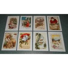 8 Vintage Kerstkaarten - set A