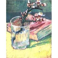 Vincent van Gogh - Amandeltak in glas met boek