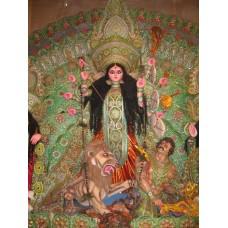Durga doodt het monster Mahisasur